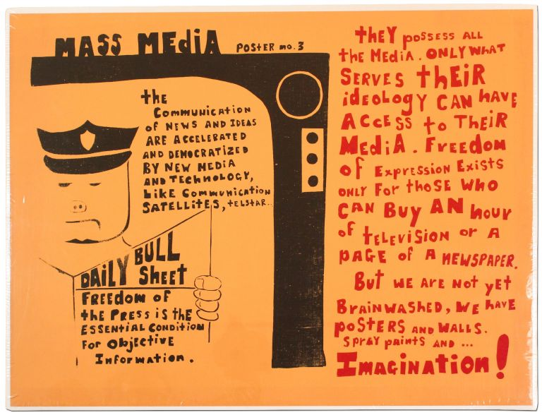 Mass Media Poster No. 3: The Communication of News and Ideas are Accelerated and Democratized by New Media and Technology, Like Communication Satellites, Telstar...