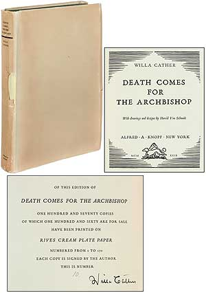 Death Comes for the Archbishop. Willa CATHER.