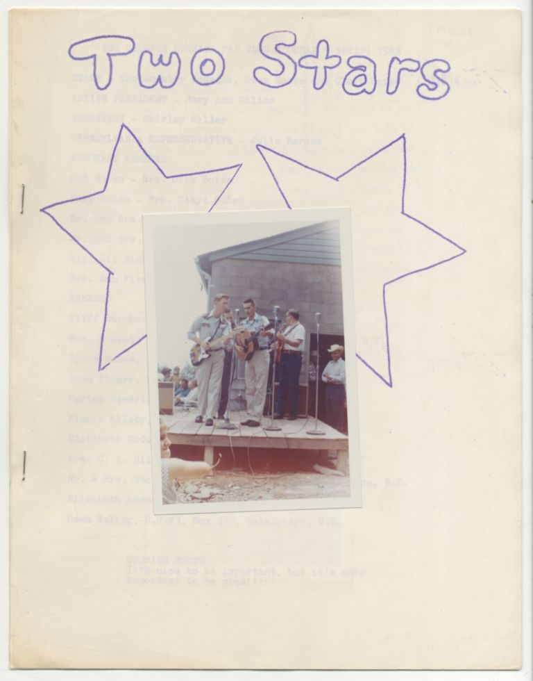 [Zine]: The Country Cousins Fan Club Journal [cover title]: Two Stars. Dick BOISE, Clayt.