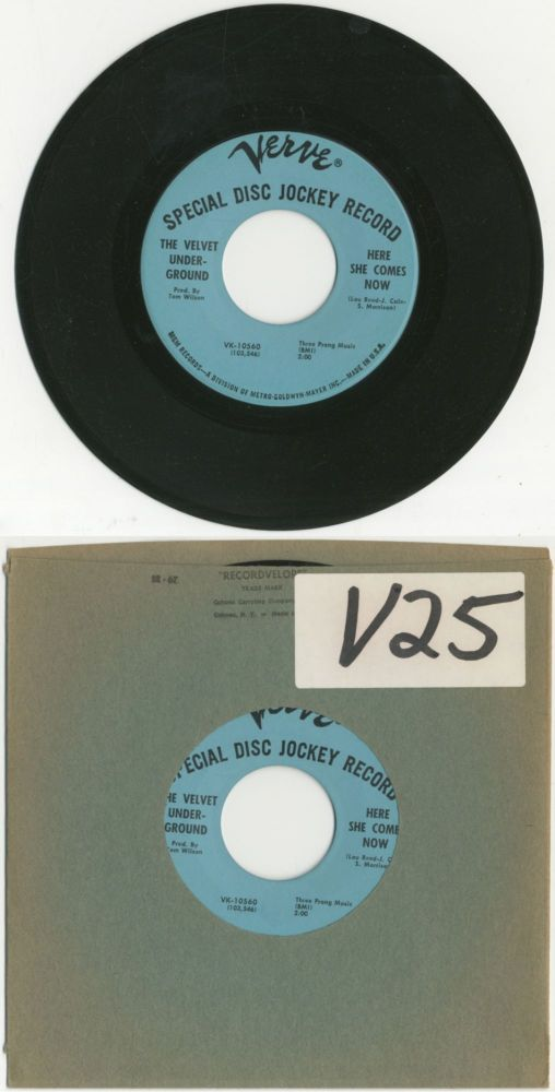 "Vinyl Record]: The Velvet Underground 7"" Single: ""White Light/White Heat"" / ""Here She Comes Now"""