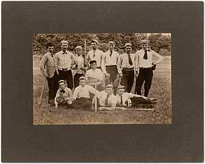 Baseball Team Photograph Circa 1890