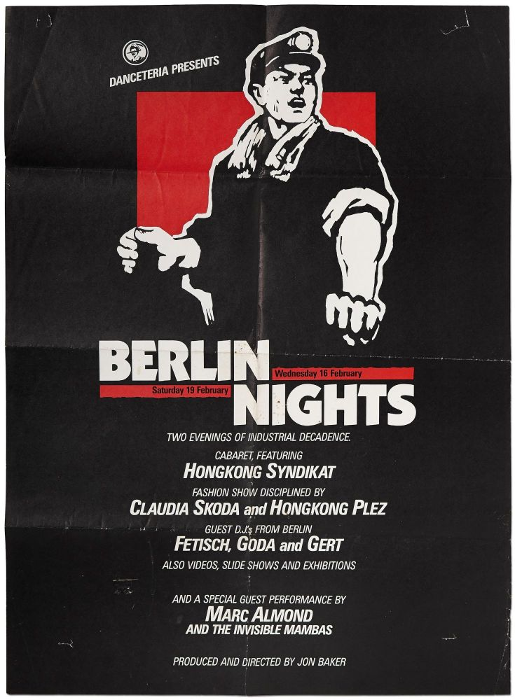 [Poster]: Danceteria Presents Berlin Nights: Two Evenings of Industrial Decadence. Marc ALMOND.