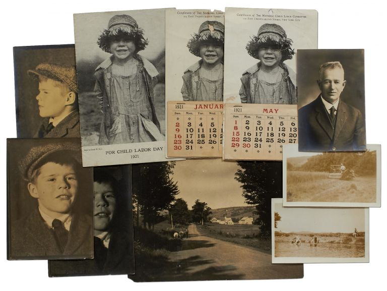 Seven Original Photographs, with related material. Lewis W. HINE.