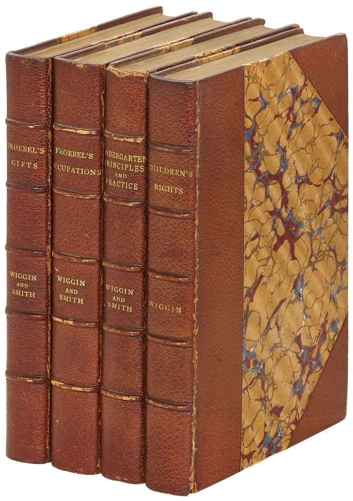 Four Volumes of Kate Douglas Wiggin Inscribed by Wiggin to her Husband George C. Riggs. Kate Douglas WIGGIN, and Nora Archibald Smith.