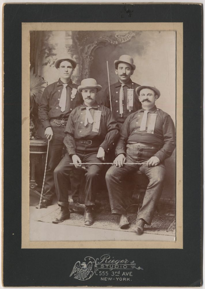 [Cabinet Card]: New York City Carriage Hansom Cab Drivers[?]