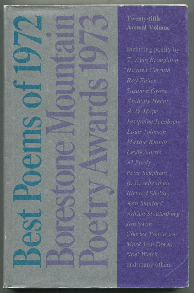 Best Poems of 1972: Borestone Mountain Poetry Awards 1973: A Compilation of Original Poetry Published in Magazines of the English-Speaking World in 1972: Volume 25