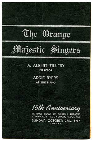 The Orange Majestic Singers (cover title)