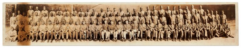 Panoramic Photograph of African-American Soldiers during World War II