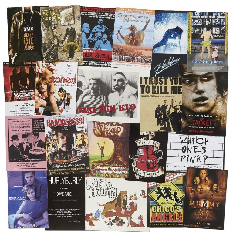 [Handbills]: Handbills and Postcards for Music and Alternative Movie and California Theatre performances in the Early 2000s