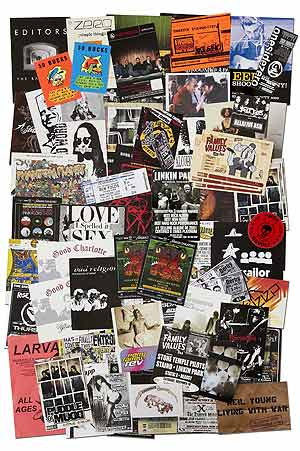 [Handbills]: Handbills and Postcards for Alternative Rock, Metal, and Electronic Music from California in the Early 2000s