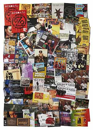 [Handbills]: Handbills and Postcards for Promoting Jazz, Scat, Hip Hop, and Rap Music from the Early 2000s