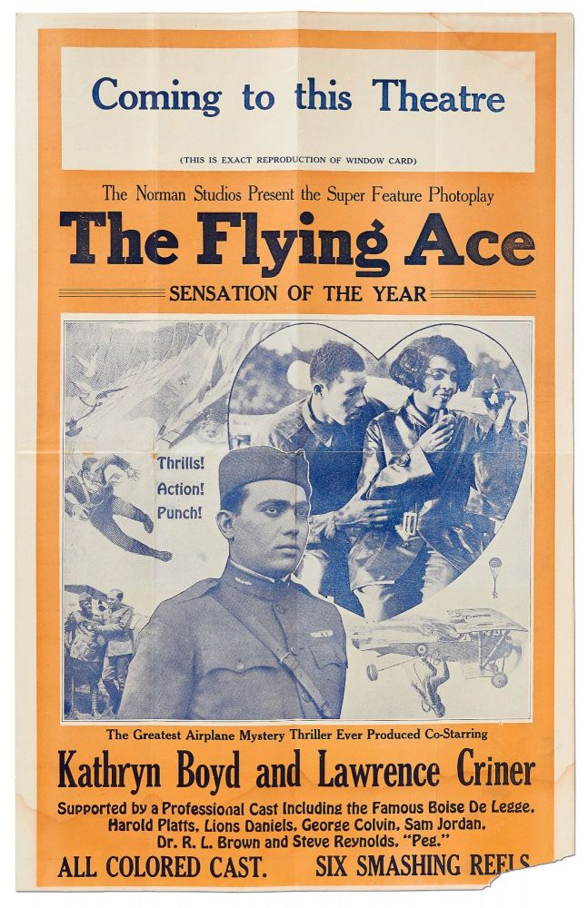 [Movie press book]: The Norman Studios Present the Super Feature Photoplay. The Flying Ace