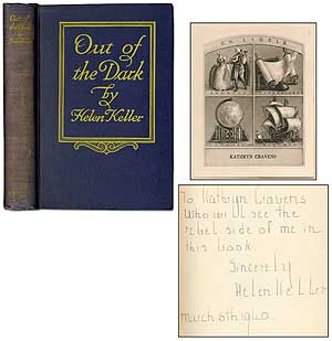 Out of the Dark: Essays, Letters, and Addresses on Physical and Social Vision. Helen KELLER.
