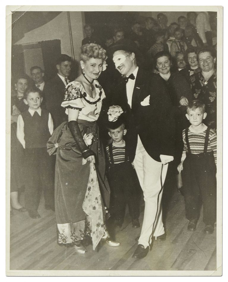 Photograph of a Couple Dressed in Dramatic Attire for a Performance