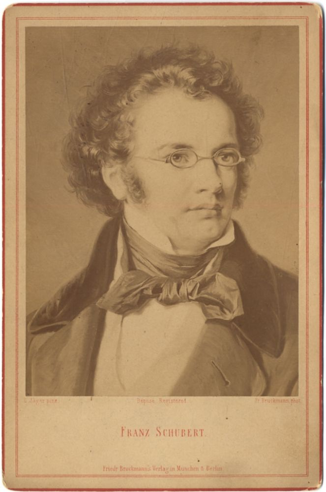 Cabinet Photograph of a Painting of Franz Schubert