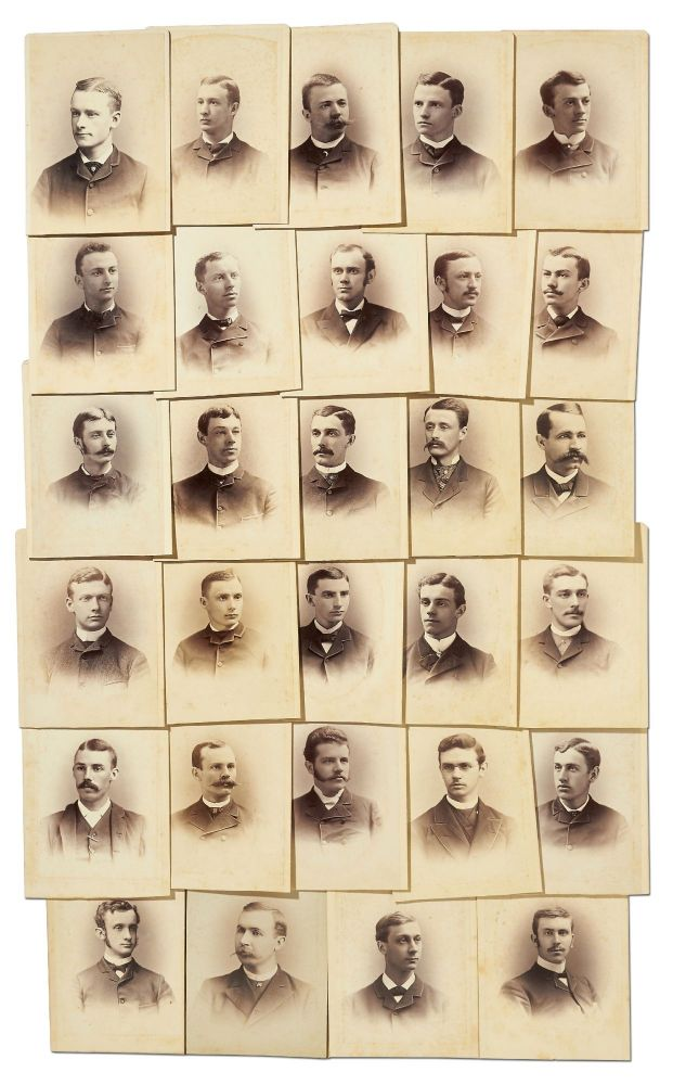 [Cabinet cards]: Rutgers University Class of 1884