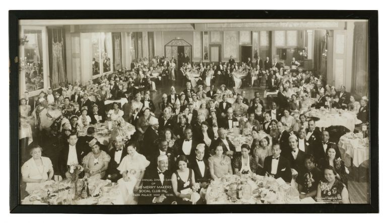 Photograph]: The Annual Dinner Dance of The Merry Makers Social Club Inc. Park Palace May 19, 1938