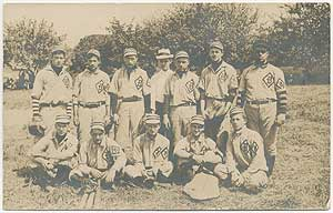 Real Photo Post Card of an Amateur Baseball Team likely from Bath, Pennsylvania