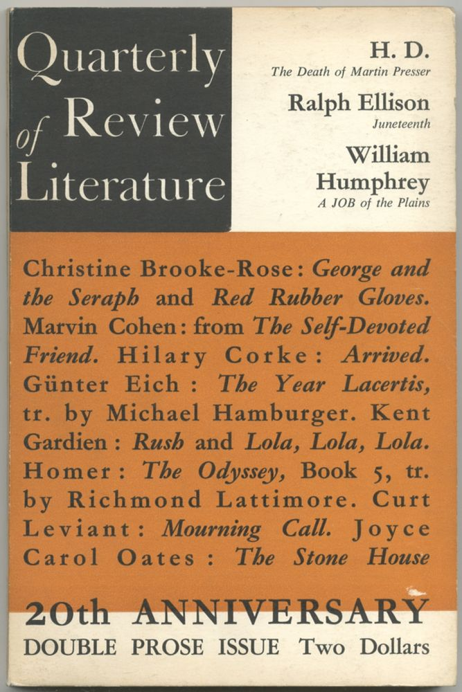 Quarterly Review of Literature. Volume XIII, Numbers 3/4
