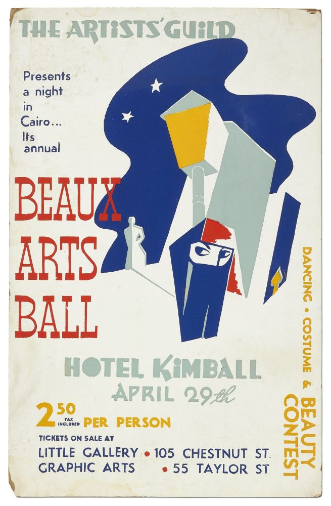 (Broadside): The Artists' Guild Presents a Night in Cairo... Its annual Beaux Arts Ball. Dancing Costume & Beauty Context