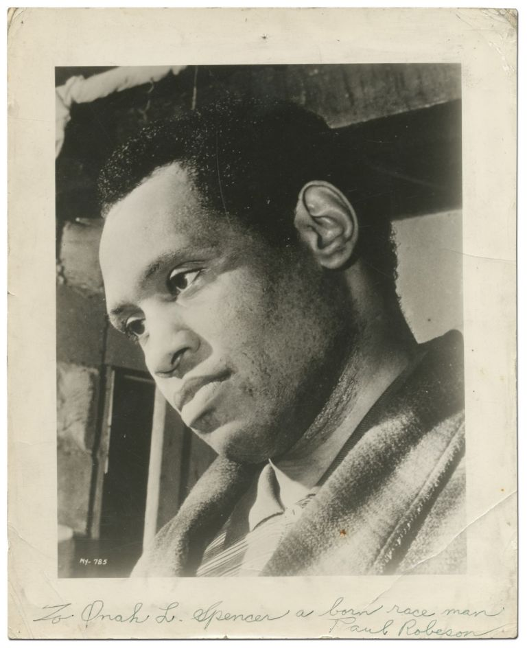Inscribed Photograph. Paul ROBESON.