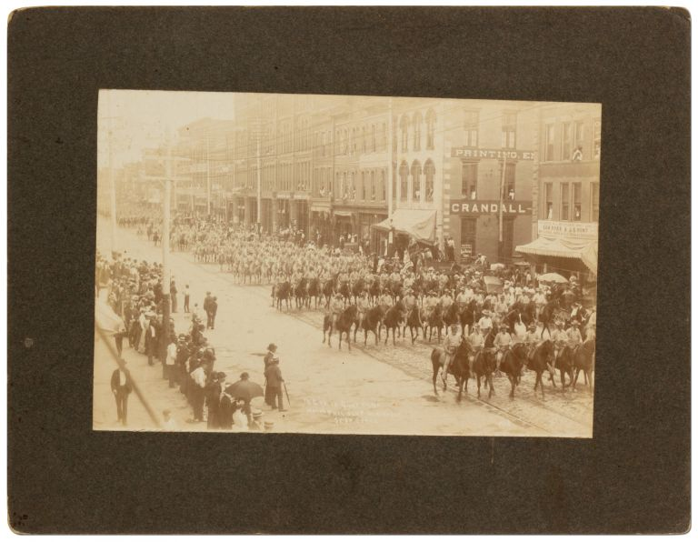 [Photograph]: 7th Cavalry in Chattanooga Honoring President Theodore Roosevelt. September 8, 1902. Theodore ROOSEVELT.