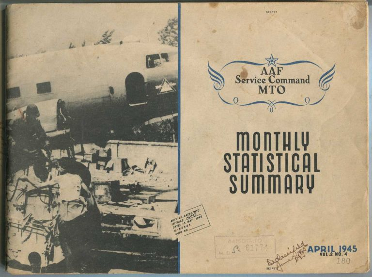 AAF Service Command MTO: Monthly Statistical Summary: April, 1945, Vol. 2, No. 4