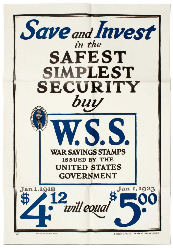 Broadside]: Save and Invest in the Safest Simplest Security Buy W.S.S. War Savings Stamps Issued...