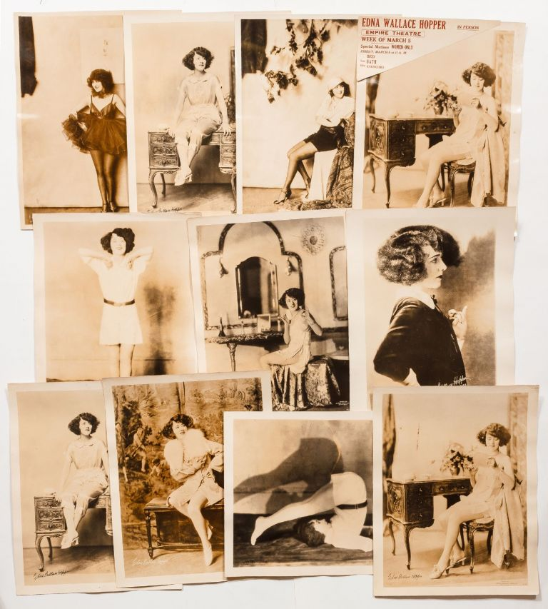 Eleven Large Vintage Publicity Photographs of Edna Wallace Hopper (eight by Alfred Cheney...