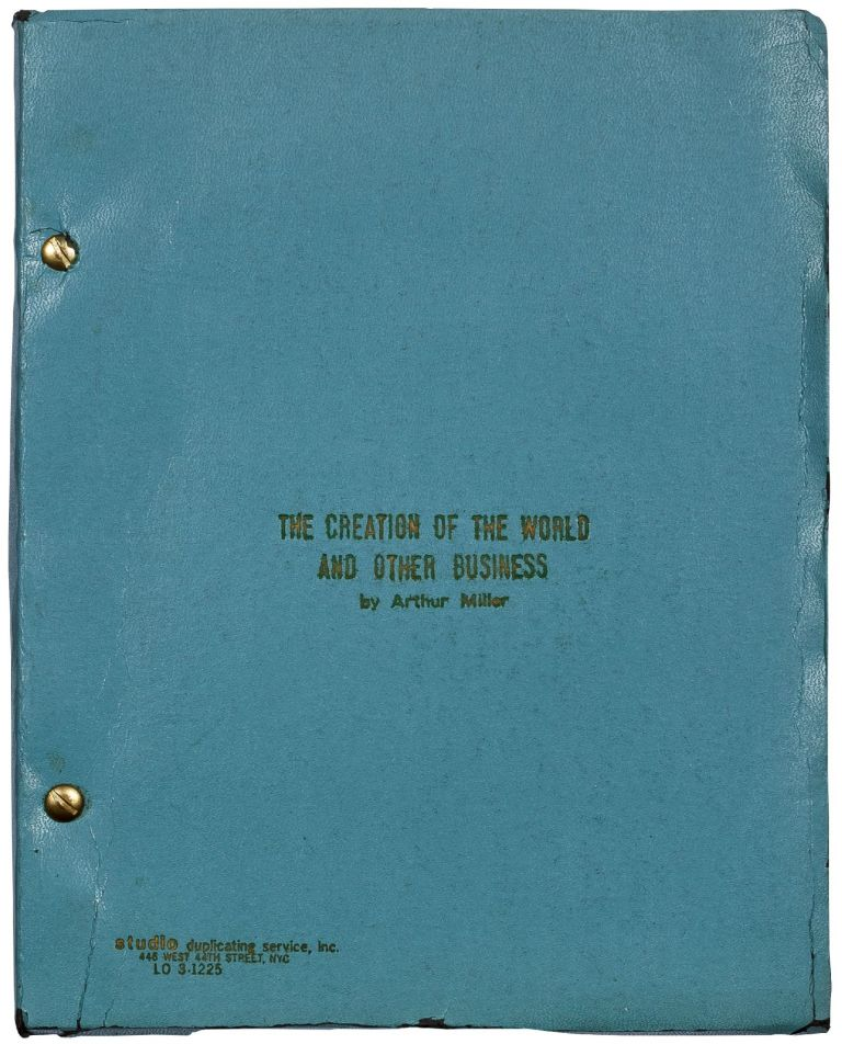 [Playscript]: The Creation of the World and Other Business. A Catastrophic Comedy. Arthur MILLER.