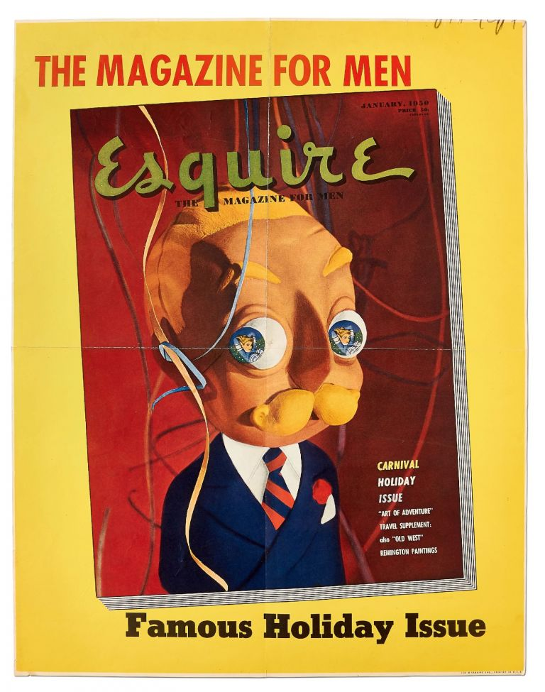 (Poster): Esquire: The Magazine for Men. Famous Holiday Issue. 1950