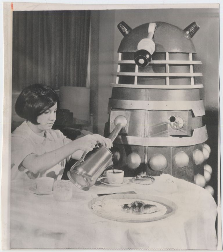 Photograph]: Breakfast with a Dalek
