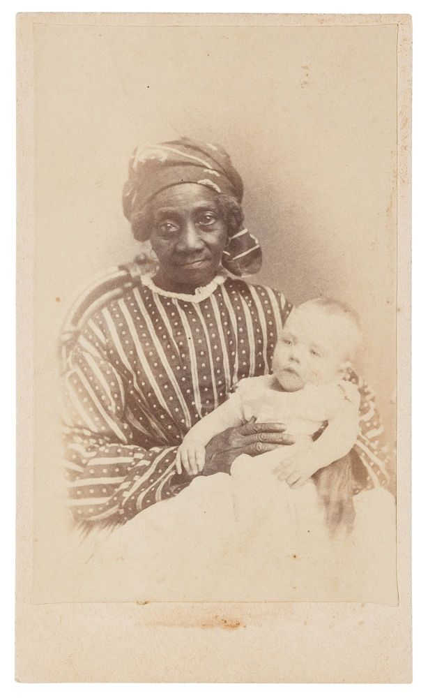Carte de Visite of a Black Nanny with a White Baby