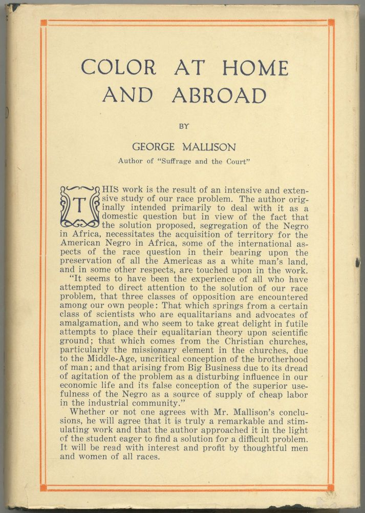 Color at Home and Abroad. George MALLISON.