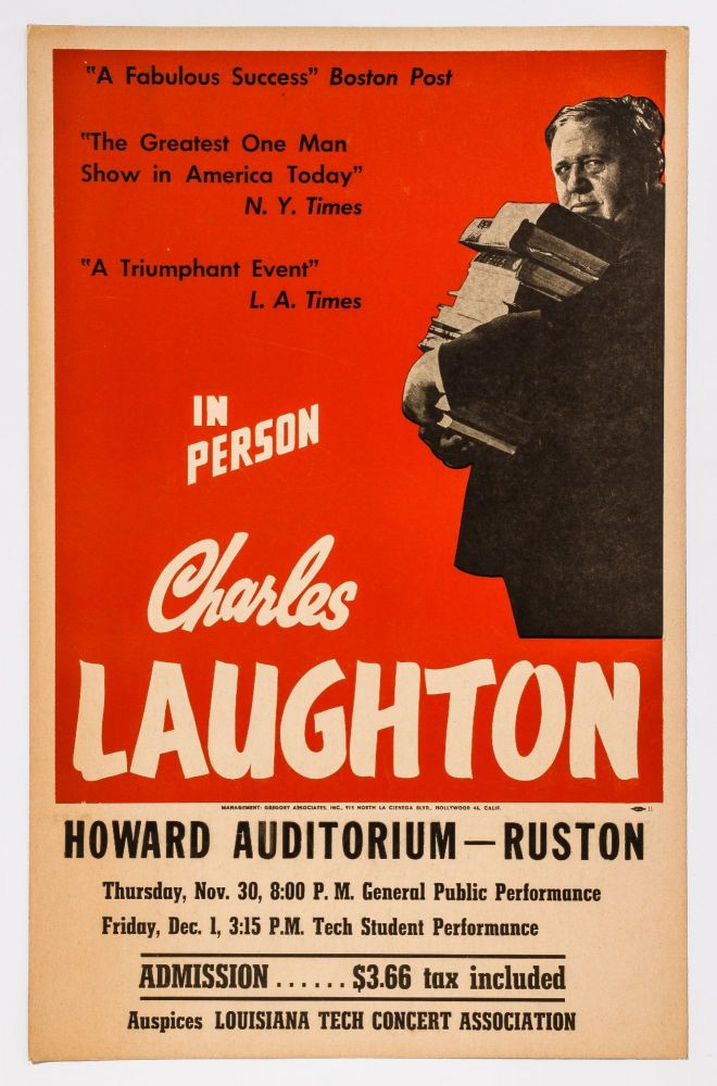 Broadside]: In Person Charles Laughton
