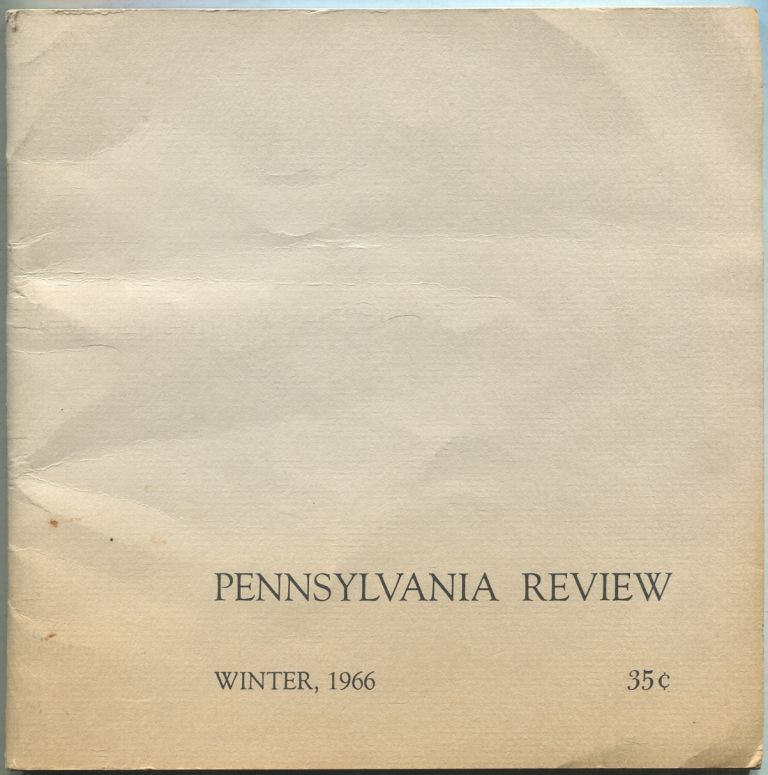 Pennsylvania Review: Winter 1967, Volume 1, Number 1. Jack GRIFFIN.