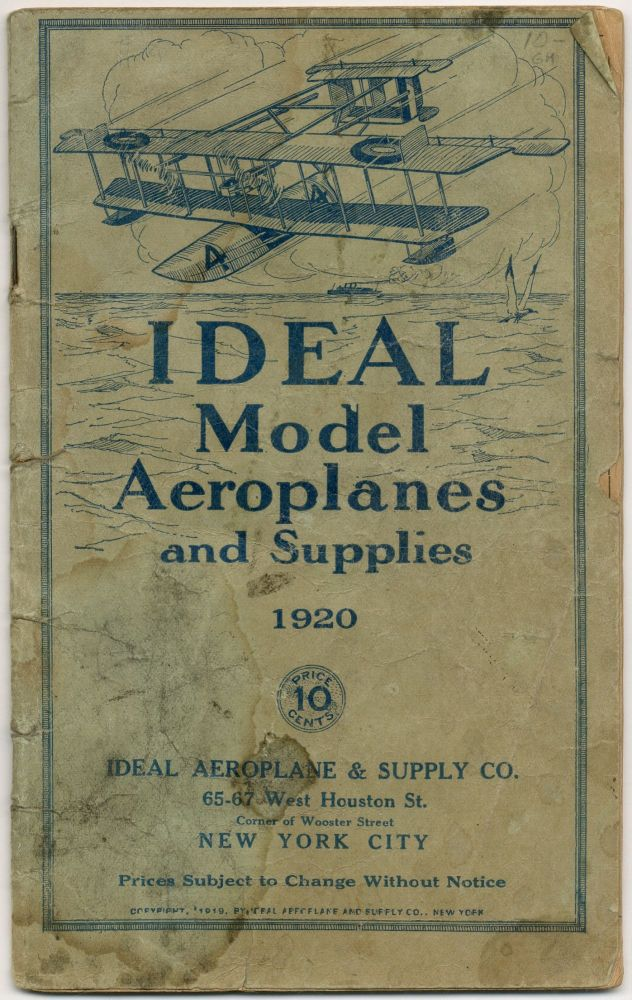 (Trade catalog): Ideal Model Aeroplanes and Supplies 1920