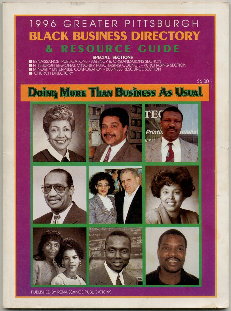 1996 Greater Pittsburgh Black Business Directory & Resource Guide