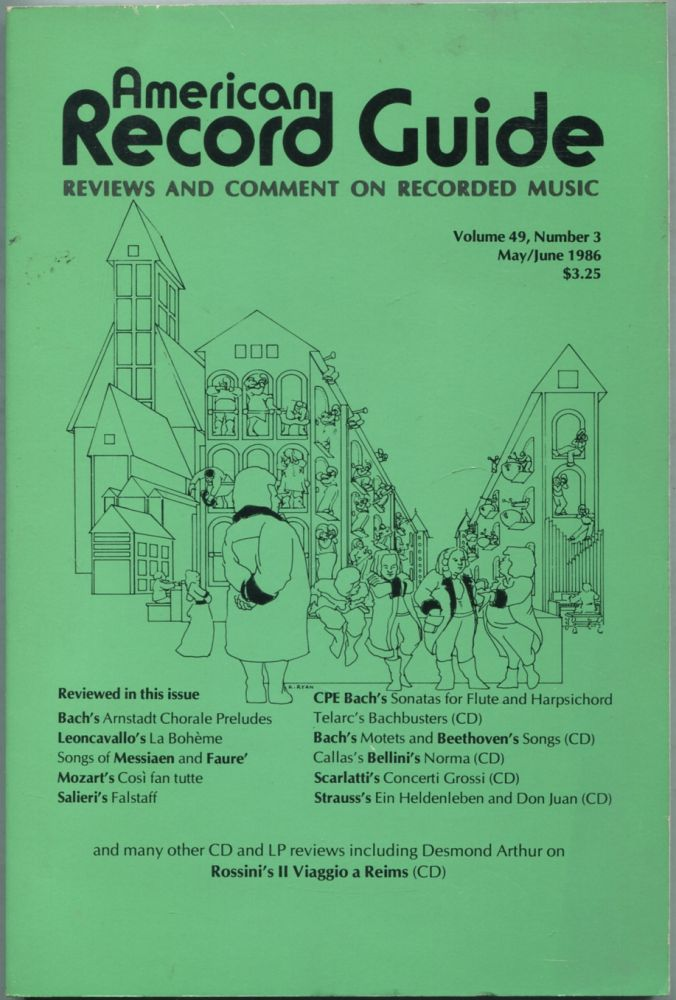 American Record Guide: May / June 1986, Volume 49, Number 3. Paul L. ALTHOUSE.