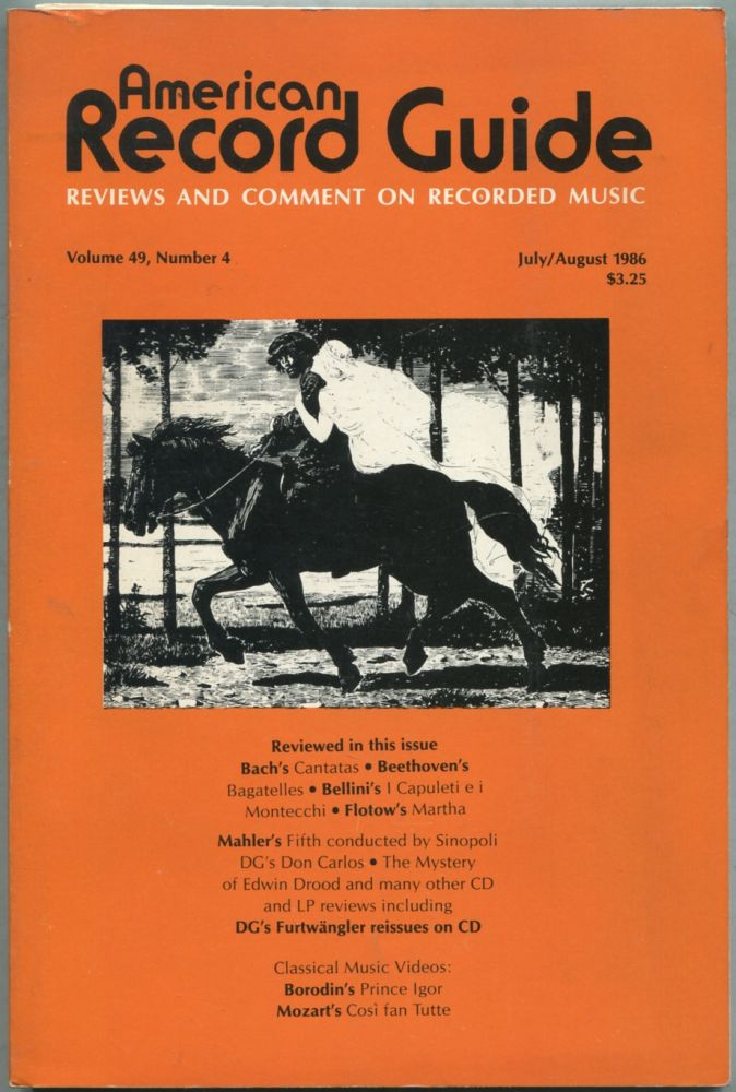 American Record Guide: July / August 1986, Volume 49, Number 4. Paul L. ALTHOUSE.