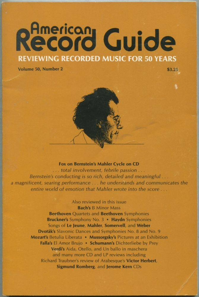 American Record Guide: March / April 1987, Volume 50, Number 2. Paul L. ALTHOUSE.