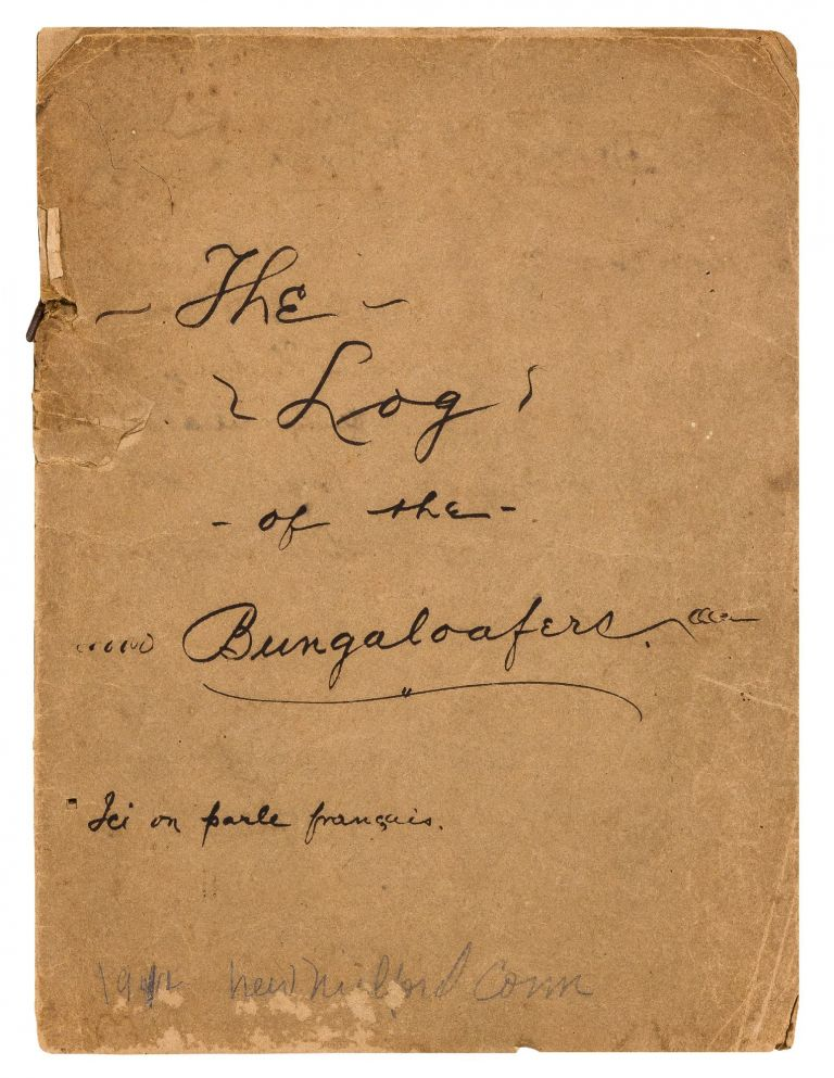 """Handmade Journal of a Woman's Travel to New Jersey, Written in English and French [cover title]: """"The Log of the Bungalaofers"""""""