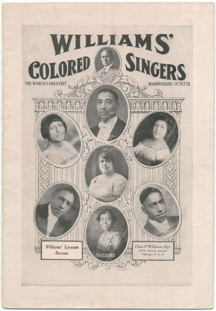 [Promotional brochure]: The World-Famous Williams' Colored Singers
