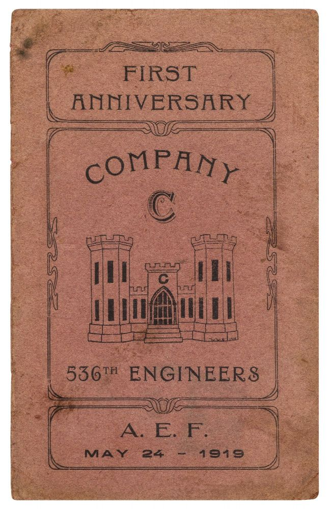 [Cover title]: First Anniversary. Company C. 536th Engineers. A.E.F. May 24 - 1919