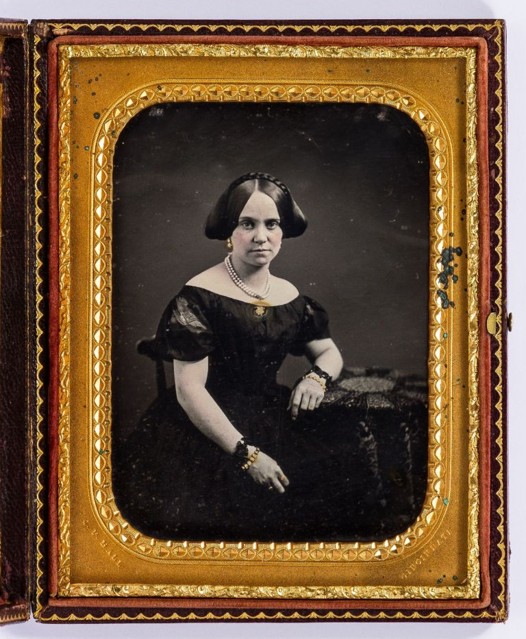Half Plate Daguerreotype by James Presley Ball, one of only a few African-American Daguerreotypists. J. P. BALL, Mary Matilda Bates Wood Laboiteaux.