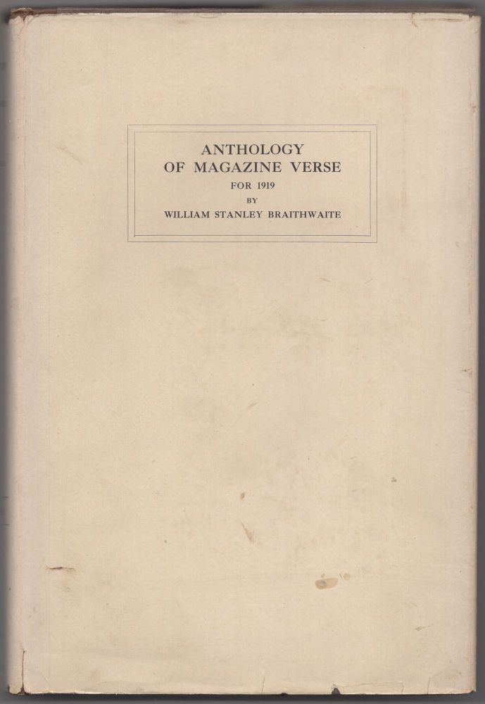 Anthology of Magazine Verse for 1919 and Year Book of American Poetry