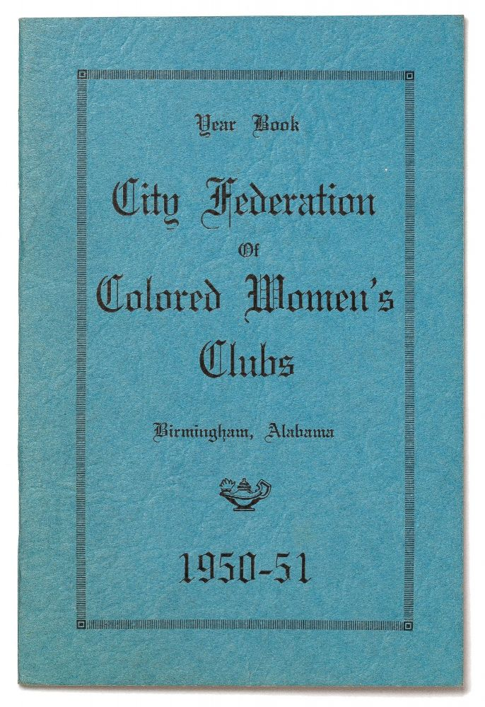 Year Book City Federation of Colored Women's Clubs