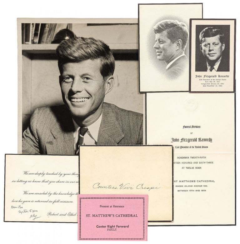 Invitation to the Funeral of John F. Kennedy and Related Material Including a Brief Handwritten...