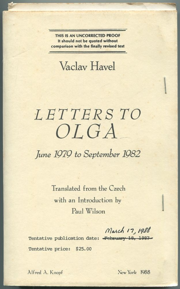 Letters to Olga June 1979 to September 1982