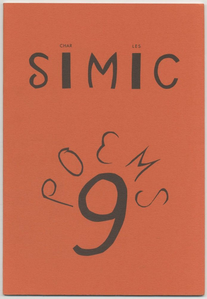 9 Poems: A Childhood Story. Charles SIMIC.